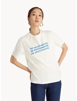 So Sentimental Graphic Tee   White by Pomelo
