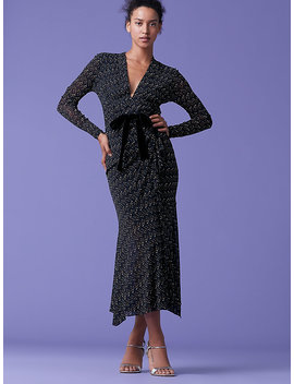 Crystal Front Tie Dress by Dvf