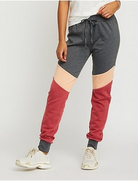 Color Block Jogger Pants by Charlotte Russe