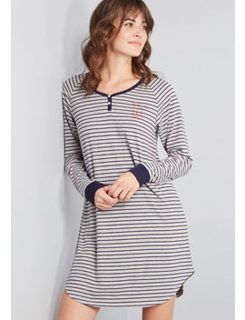Settle On Slumber Striped Nightgown by Modcloth