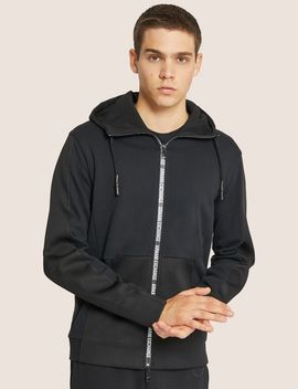 Hooded Mesh Warm Up Jacket by Armani Exchange