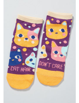Cat Hair Don't Care Ankle Socks by Modcloth