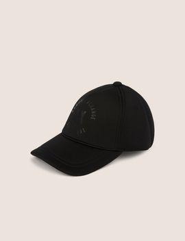 Embossed Circle Logo Neoprene Hat by Armani Exchange
