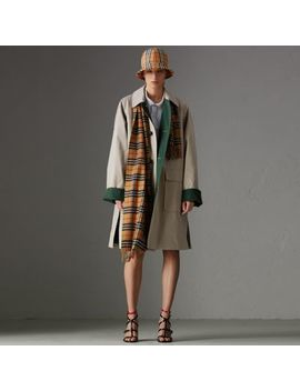 Reissued Waxed Cotton Gabardine Car Coat by Burberry