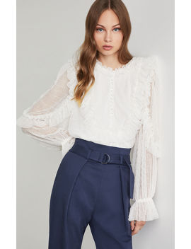 Ruffled Baby Doll Blouse by Bcbgmaxazria
