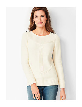 Cable Ribbed Yoke Sweater by Talbots
