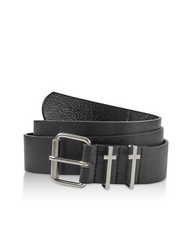 Cross Loop Faux Leather Belt by Rainbow
