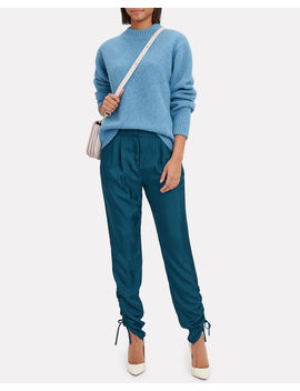 Blue Easy Pullover Sweater by Tibi