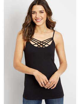 Strappy Neck Layering Tank by Maurices
