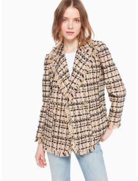 Bi Color Tweed Blazer by Kate Spade