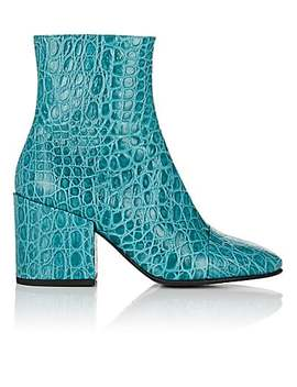 cap-toe-stamped-leather-ankle-boots by dries-van-noten