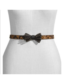 new-vince-camuto-studded-bow-calf-hair-belt-size-s   nwt by vince-camuto