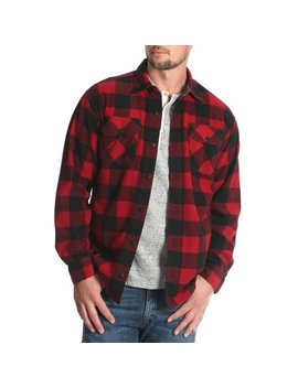 mens-and-big-&-tall-wicking-fleece-shirt-jacket,-up-to-size-5xl by wrangler