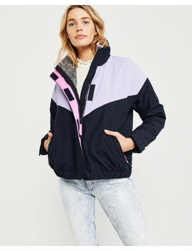 Colorblock Nylon Jacket by Abercrombie & Fitch