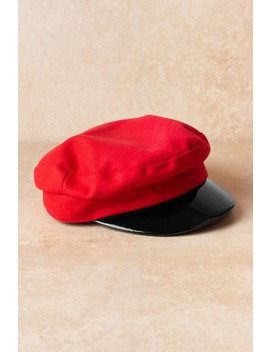 Heart Attack Red Cab Hat by Tobi