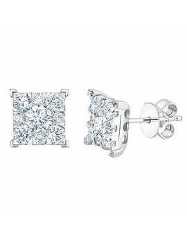 Round Brilliant Diamond Earrings (1.00 Ctw) by Costco
