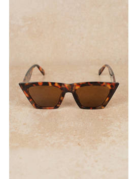Angie Tortoise Framed Sunglasses by Tobi