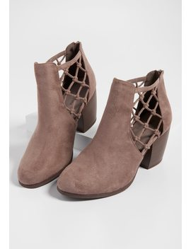 Tamara Side Weave Bootie by Maurices