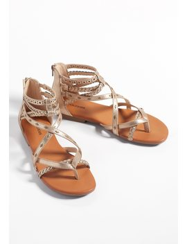 Alexa Embellished Gladiator Sandal by Maurices