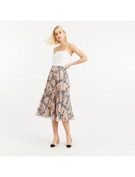 Printed Pleated Skirt by Oasis