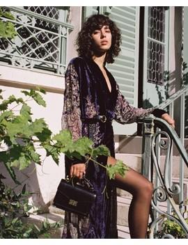Long Purple Burnout Velvet Kimono Long Purple Burnout Velvet Kimono by The Kooples