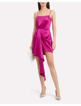 Cascade Pink Satin Dress by Fleur Du Mal
