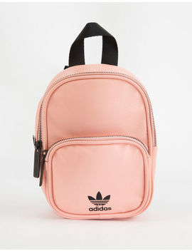Adidas Originals Faux Leather Pink Mini Backpack by Adidas