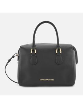 Emporio Armani Women's Boston Top Handle Shopper Bag   Black by Emporio Armani