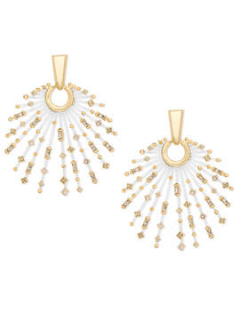 Fabia Gold Statement Earrings In Smoky Mix by Kendra Scott