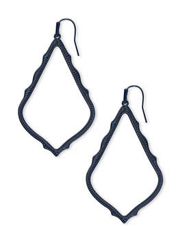 Sophee Drop Earrings In Navy Gunmetal by Kendra Scott