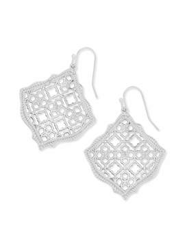 Kirsten Silver Drop Earrings In Silver Filigree Mix by Kendra Scott