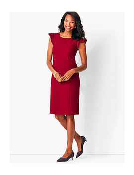 Italian Luxe Double Cloth Sheath Dress by Talbots