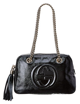 Gucci Black Patent Leather Soho Bag by Gucci