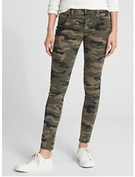 Mid Rise Skimmer Jeggings In Stretch by Gap