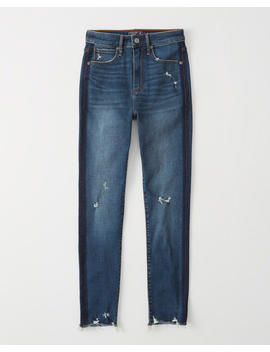 High Rise Ankle Jeans by Abercrombie & Fitch