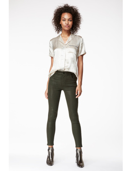 Alana High Rise Cropped Super Skinny In Photo Ready Coated Ivy Vine by J Brand
