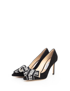 Tegan Black Suede Bow Stiletto Heels by Jimmy Choo                                      Sold Out