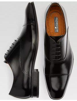Florsheim Francisco Black Cap Toe Oxfords by Mens Wearhouse