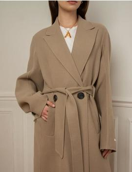 Wool Oversize Cocoon Coat by Pixie Market