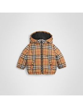 Vintage Check Down Filled Hooded Jacket by Burberry