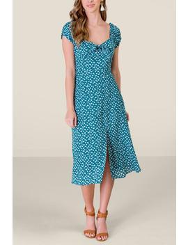 Olivia Tie Front Midi Dress by Francesca's