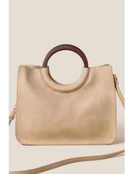 Betty Wood Handle Mini Tote by Francesca's