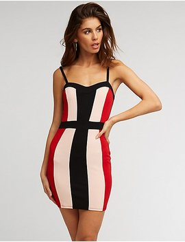 Colorblock Sweetheart Bodycon Dress by Charlotte Russe