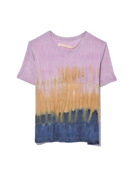 Boxy Tee In Gold Rainbow by Raquel Allegra