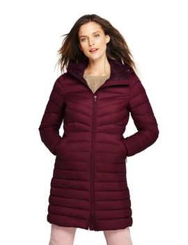 Women's Tall Ultralight Packable Long Down Coat by Lands' End