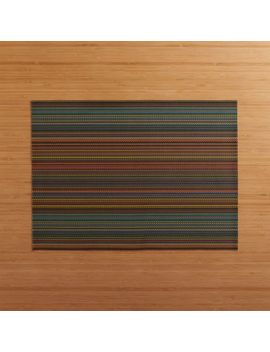 Chilewich ® Chroma Dark Striped Vinyl Placemat by Crate&Barrel