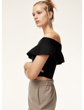 Marek Knit Top   Off The Shoulder, Ruffled Tube Top by Babaton
