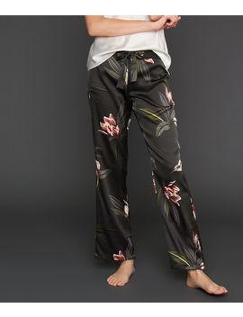 Pantalon Large Satiné Imprimé Floral   Jousse by Etam