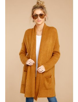 Steal A Moment Caramel Cardigan by Dreamers By Debut