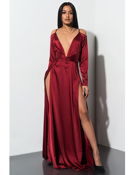 Feeling Luxe Deep V Maxi Dress by Akira